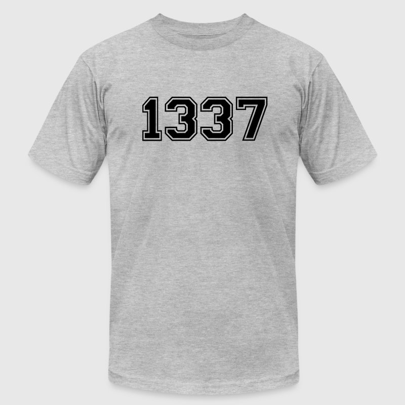 1337 - Men's T-Shirt by American Apparel