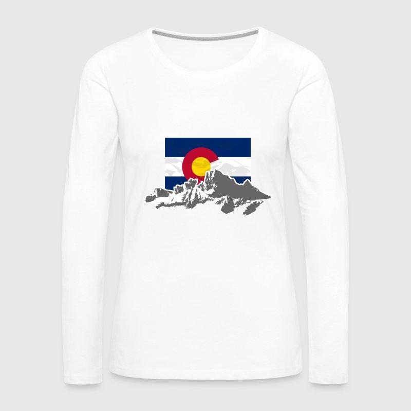 Flag & Mountains Women's Premium Long Sleeve T