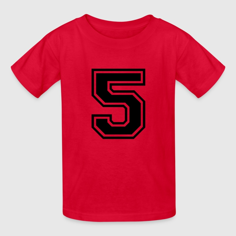 Number 5 Five Kids' Shirts - Kids' T-Shirt
