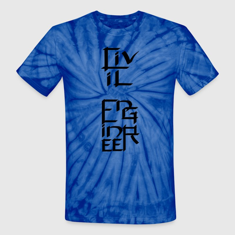 Civil Engineer Character T-Shirts - Unisex Tie Dye T-Shirt