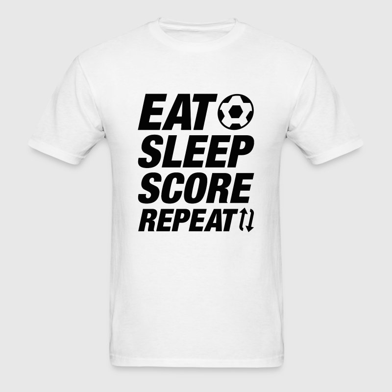 Eat Sleep Score Repeat - Men's T-Shirt
