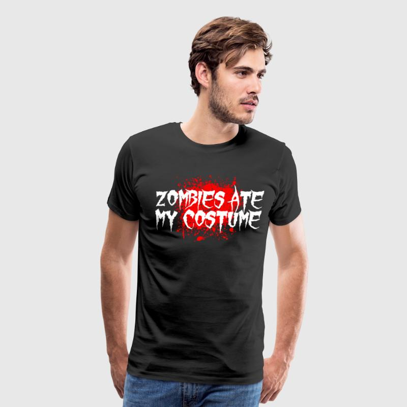 Zombies Ate My Costume T-Shirts - Men's Premium T-Shirt