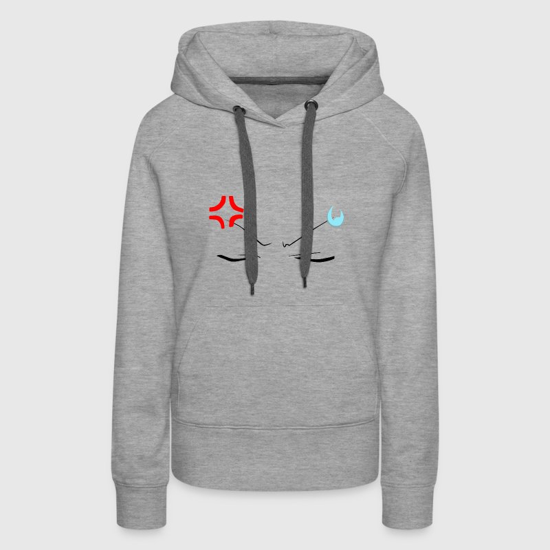 Angry Face Anime - Women's Premium Hoodie