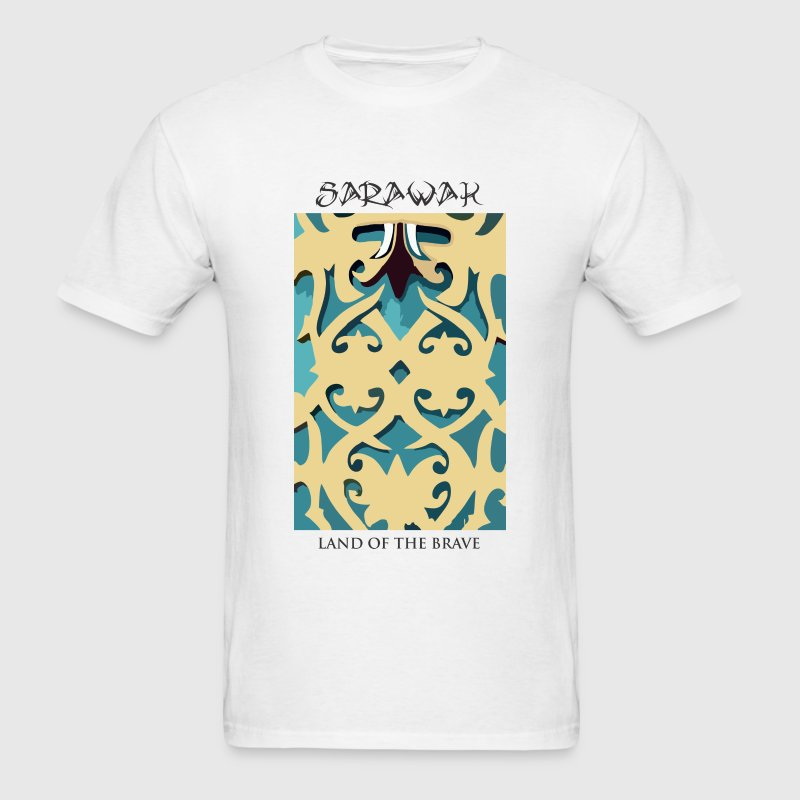 Sarawak Iban Engraving White Mens T Shirt - Men's T-Shirt