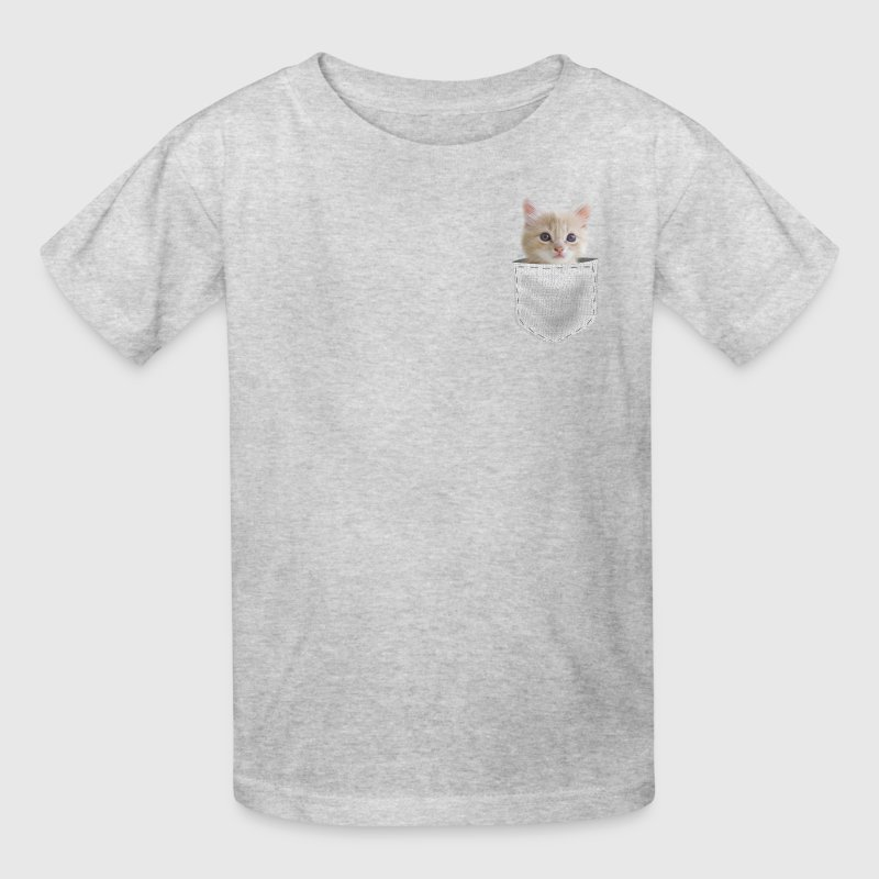 Cat Kitten in pocket - Kids' T-Shirt
