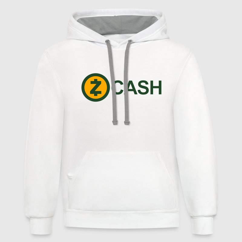 Zcash Logo (Cryptocurrency) Hoodies - Contrast Hoodie