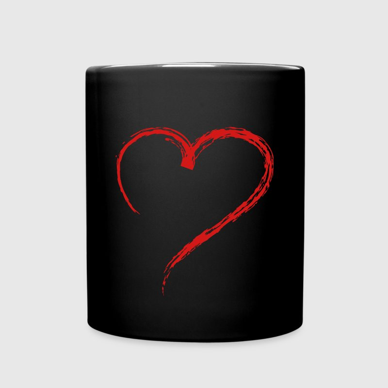Heart Sketch 1c Mugs & Drinkware - Full Color Mug