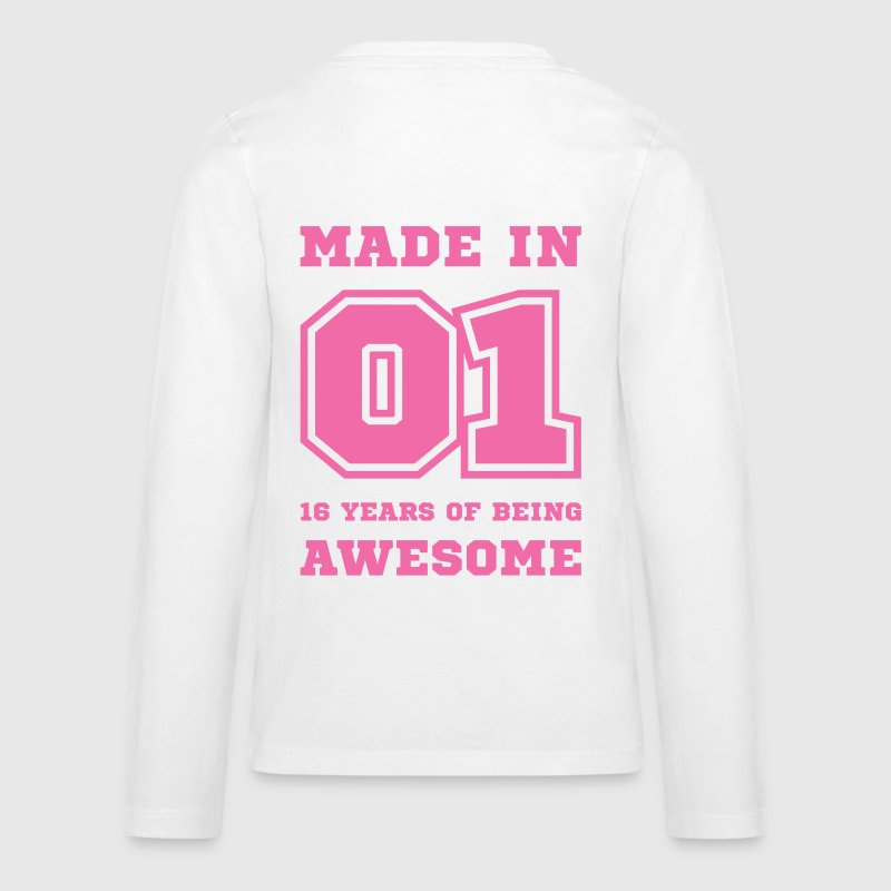 Made in 01 16 Years of being awesome Kids' Shirts - Kids' Premium Long Sleeve T-Shirt
