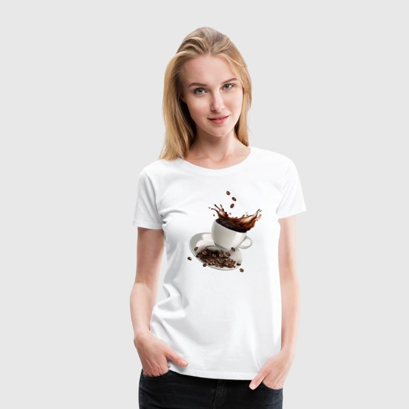 Flying cup of coffee - Women's Premium T-Shirt