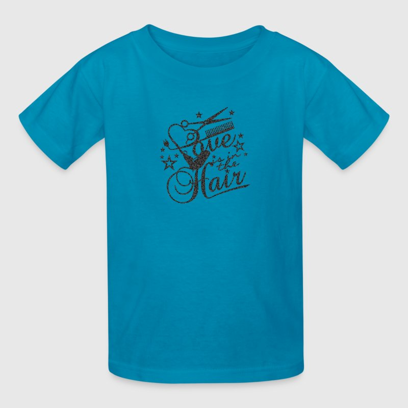 Love is in the hair (B, 1c) Kids' Shirts - Kids' T-Shirt