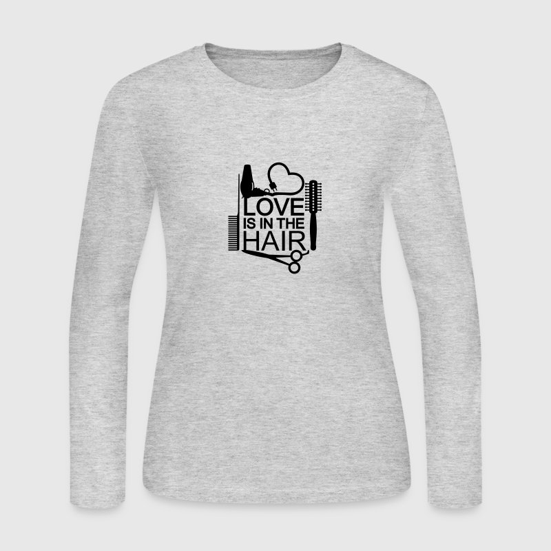Love is in the hair (1c) Long Sleeve Shirts - Women's Long Sleeve Jersey T-Shirt