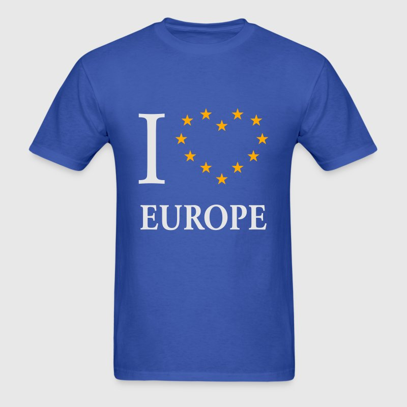 I Love Europe / I Heart Europe T-Shirts - Men's T-Shirt