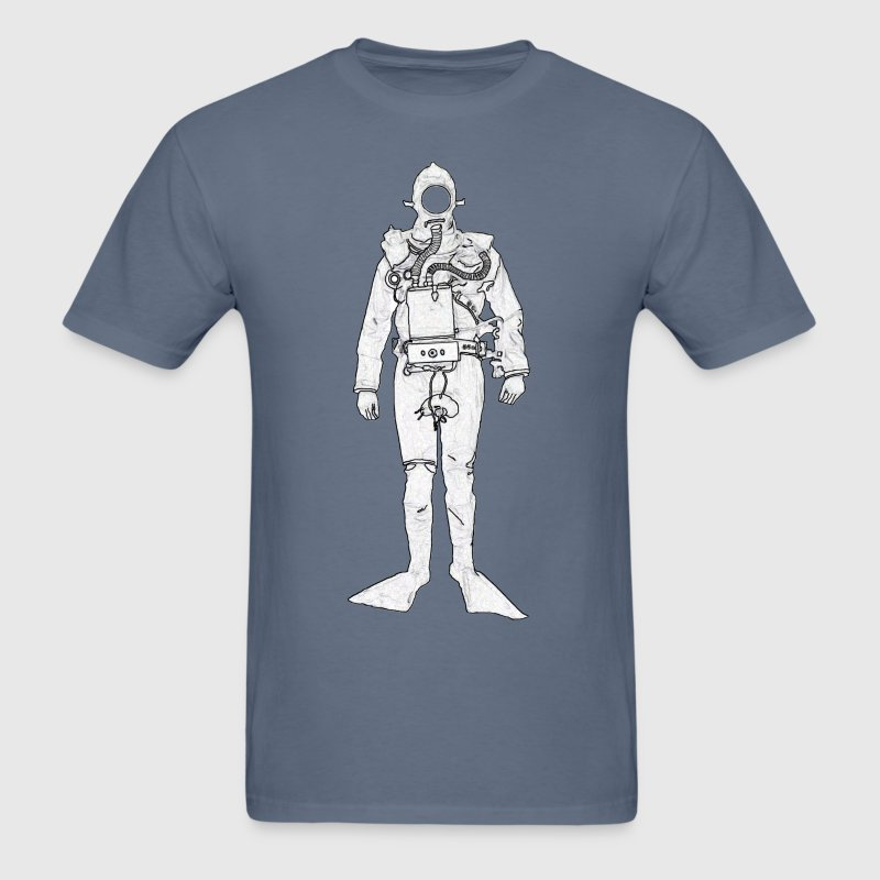 Vintage British Royal Navy Rebreather Diver - Men's T-Shirt