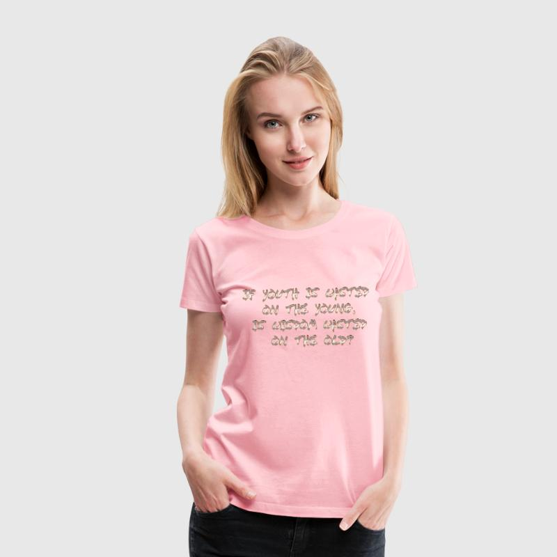 Wasted No Background - Women's Premium T-Shirt