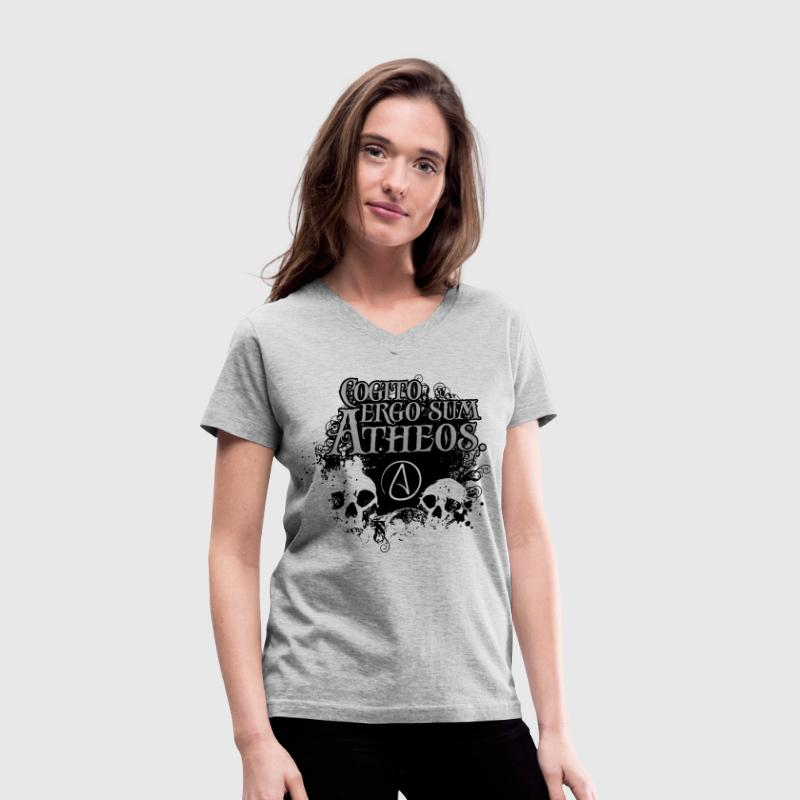 Cogito, ergo sum Atheos - I think, therefore I am Atheist Women's T-Shirts - Women's V-Neck T-Shirt