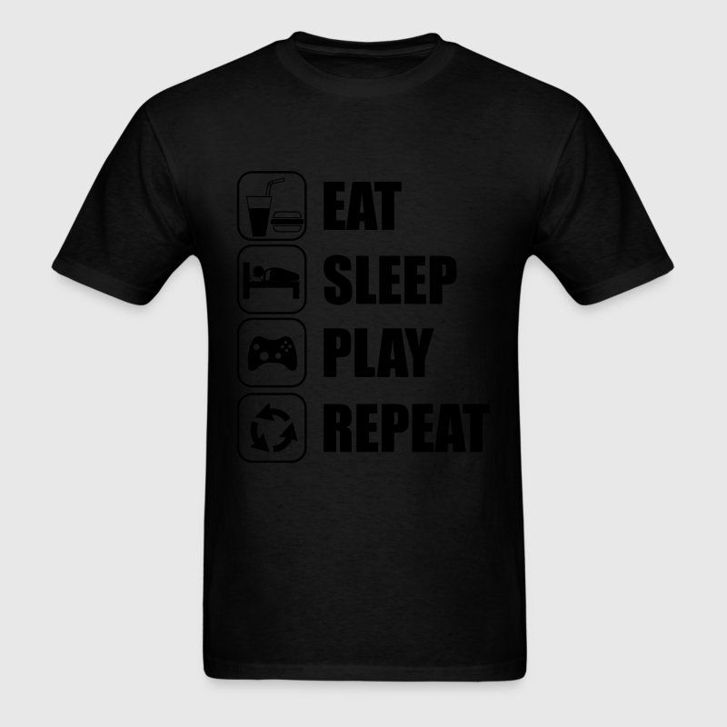 Eat,sleep,play,repeat,geek,gaming,gamer - Men's T-Shirt