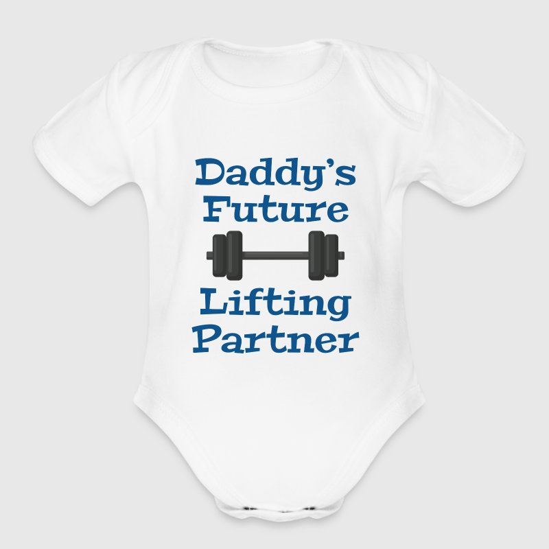 Daddy's Future Lifting Partner - Short Sleeve Baby Bodysuit