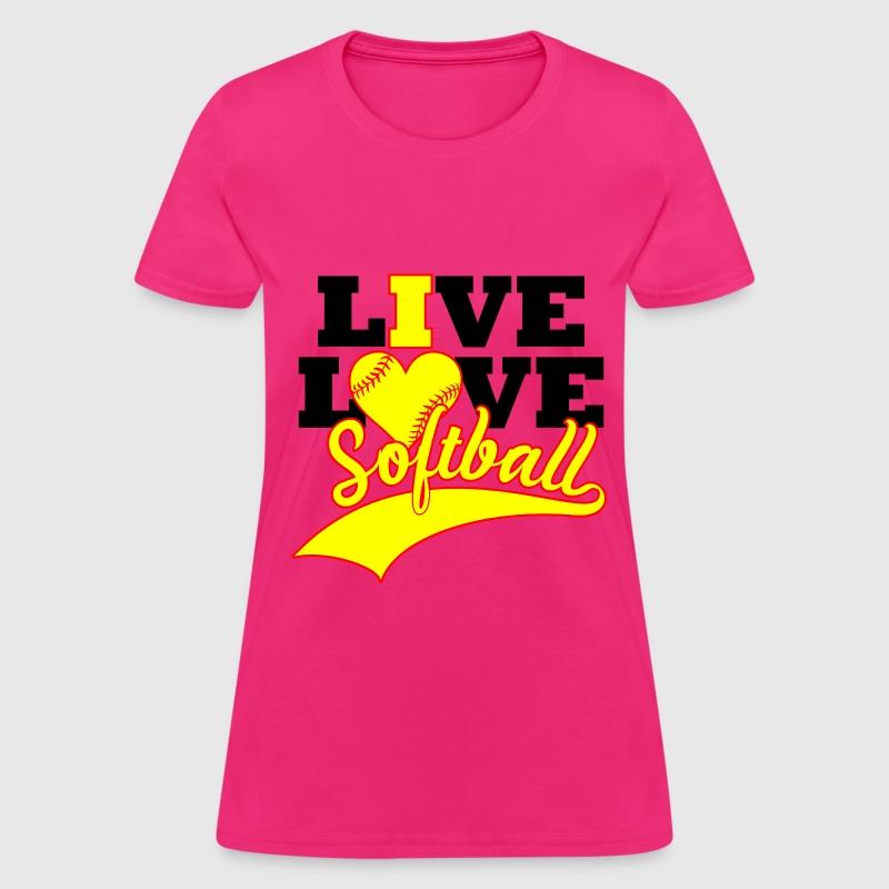 Live Love Softball T Shirt Spreadshirt