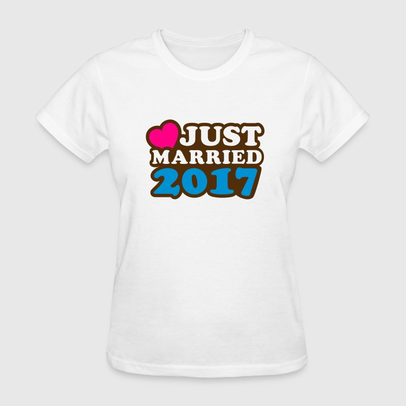 Just Married 2017 T-Shirts - Women's T-Shirt