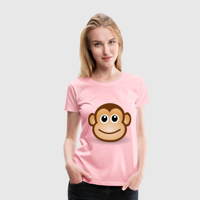 funny monkey face - Women's Premium T-Shirt