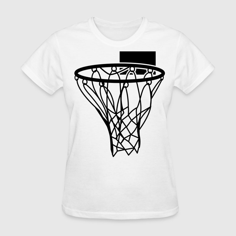 Basketball or Netball hoop net Women's T-Shirts - Women's T-Shirt