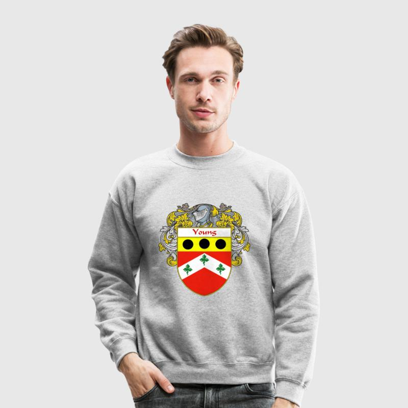 Young Coat of Arms/Family Crest Long Sleeve Shirts - Crewneck Sweatshirt