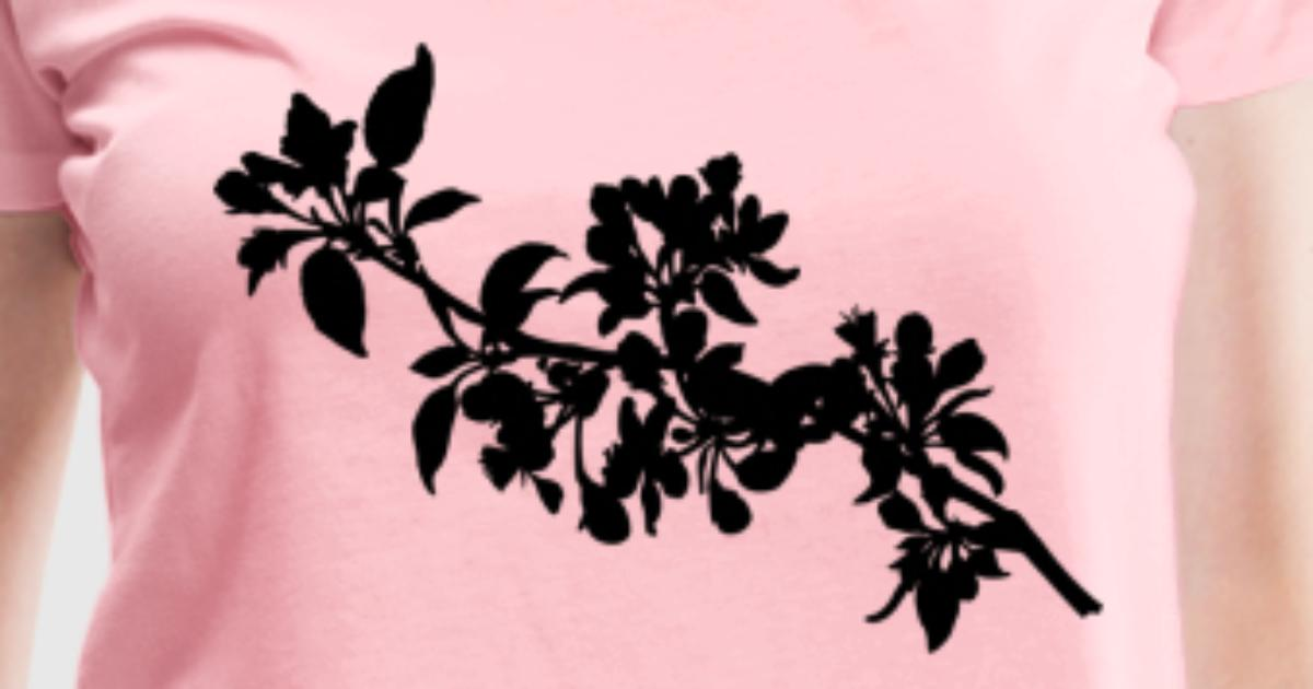 apple tree silhouette t shirt spreadshirt