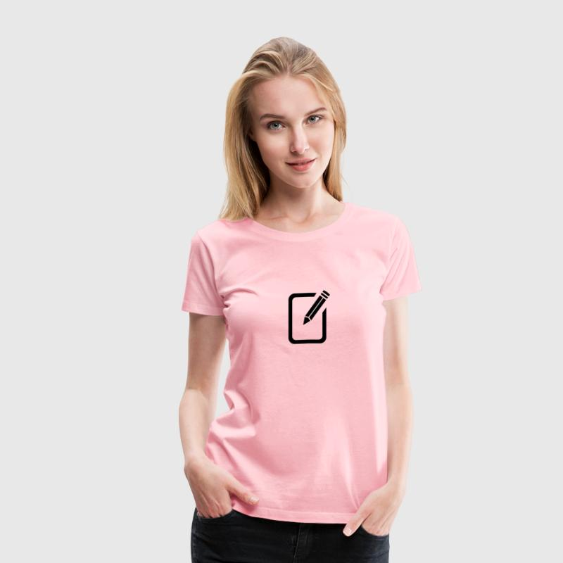 Background for Edit Text - Women's Premium T-Shirt