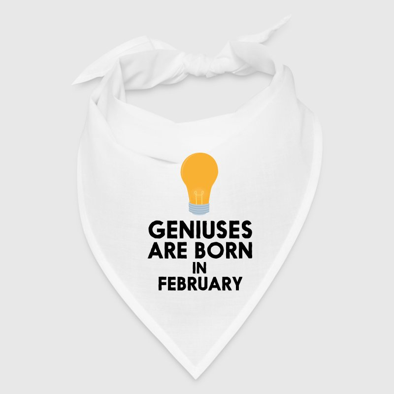 Geniuses are born in FEBRUARY S7ovs Caps - Bandana