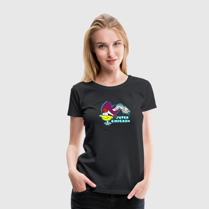 Super Chicken T-Shirts - Women's Premium T-Shirt