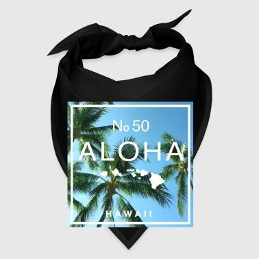 Aloha Hawaii Swaying Palm Tree Pet Bandana - Bandana
