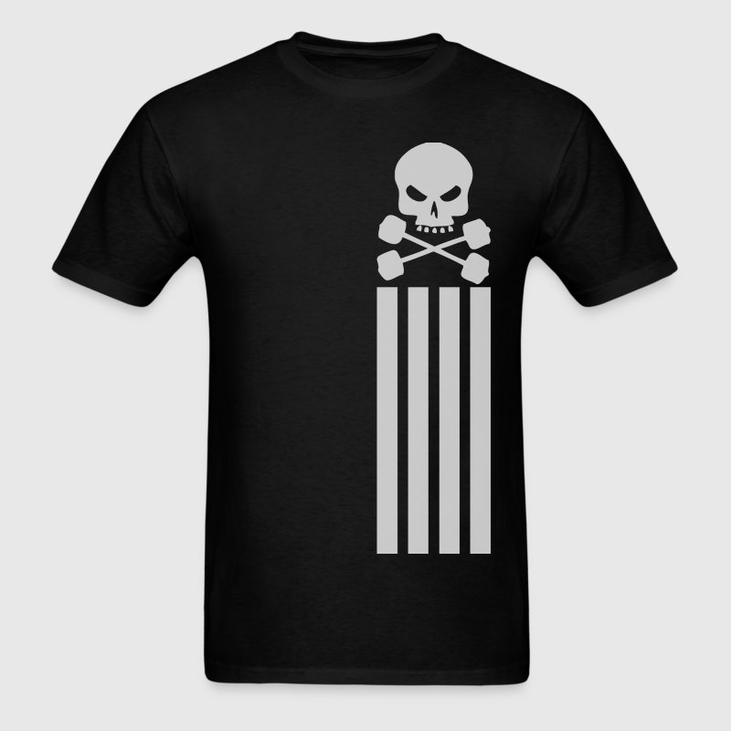 Skull and Barbell - Vertical Stripes T-Shirts - Men's T-Shirt