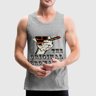 The Original Bromance Whiskey & Cigars - Men's Premium Tank