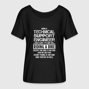 Technical support engineer t shirt spreadshirt womens flowy t shirt sciox Image collections