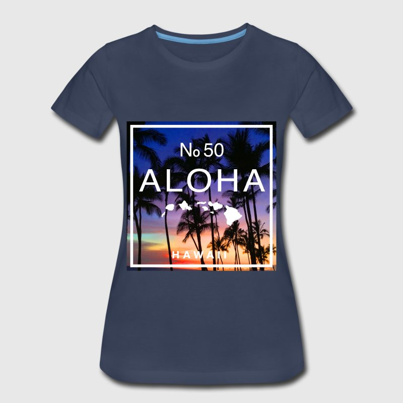 Aloha Hawaii Beach Sunset Shirt - Women's Premium T-Shirt