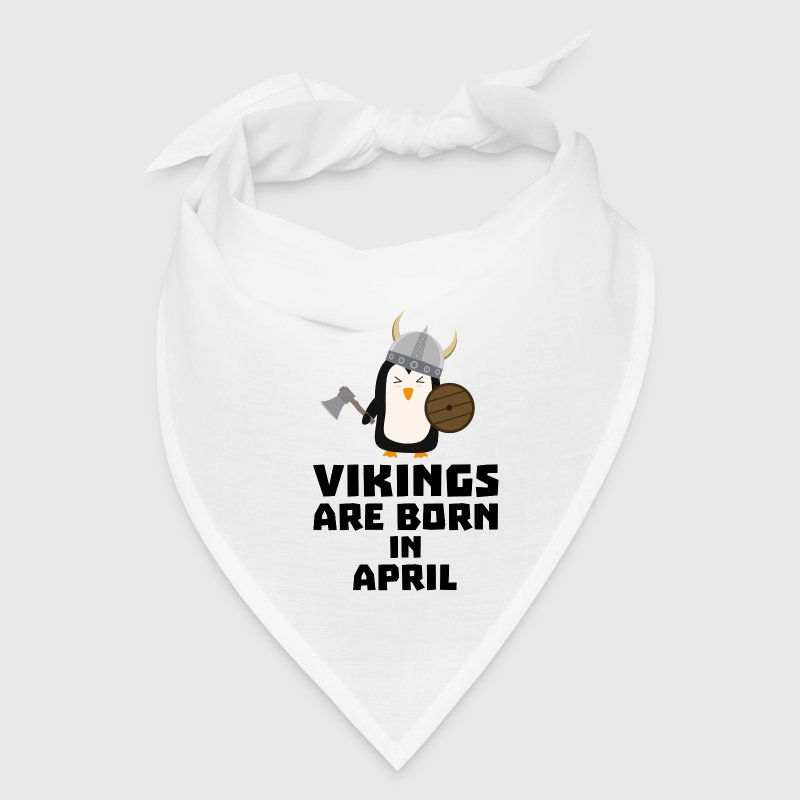 Vikings are born in April Ss047 Caps - Bandana