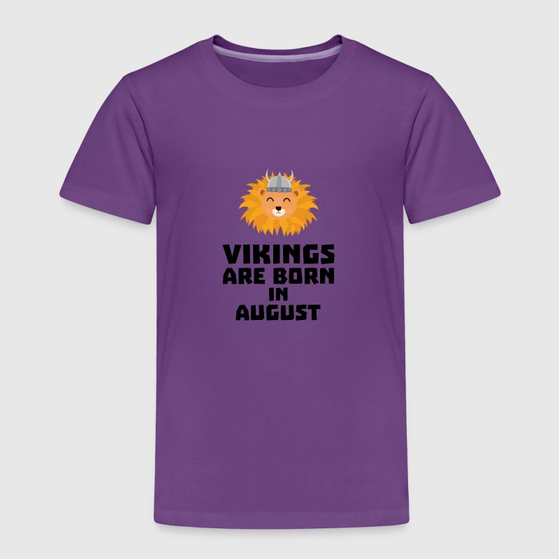 Vikings are born in August S7v9w Baby & Toddler Shirts - Toddler Premium T-Shirt