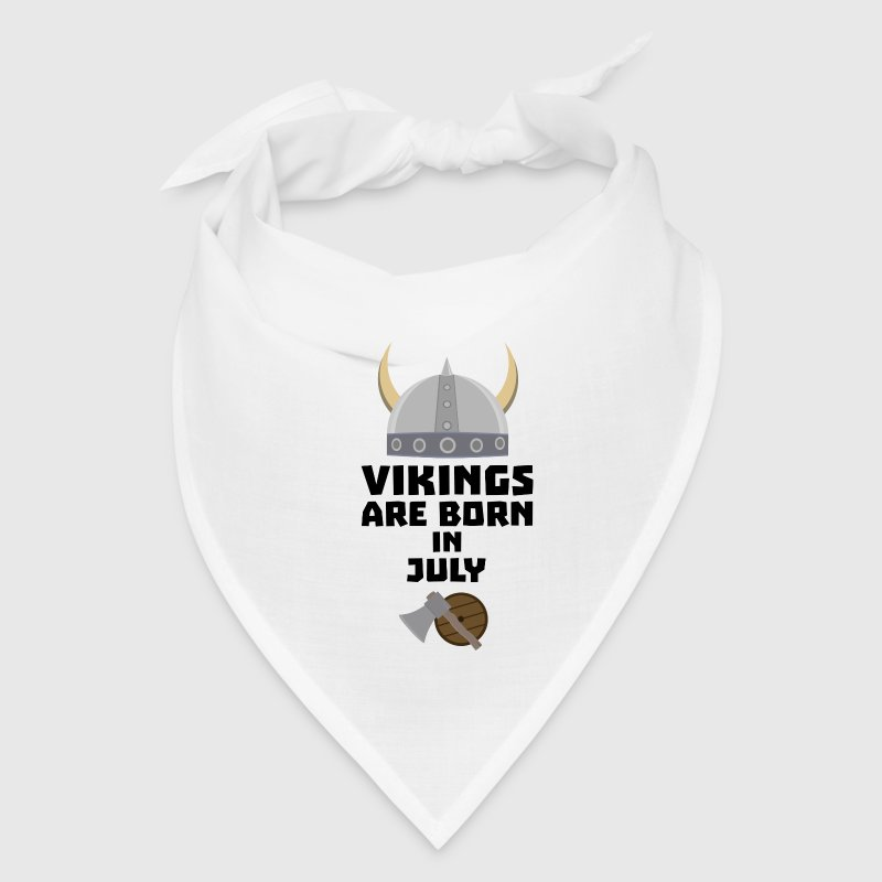 Vikings are born in July Snz0k Caps - Bandana