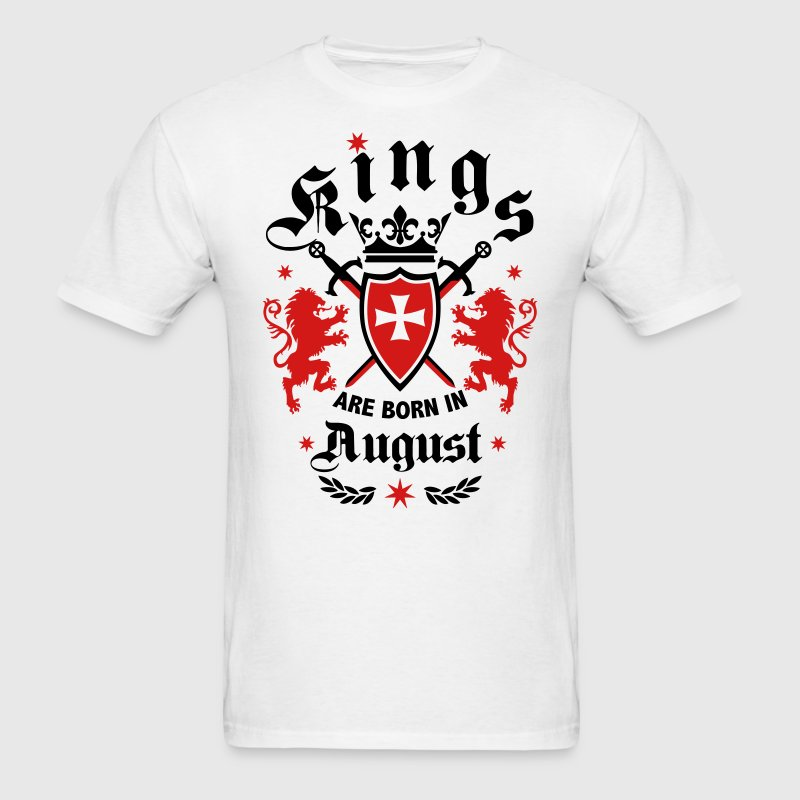 Kings August King Lions Knight Shield Birthday Tee - Men's T-Shirt