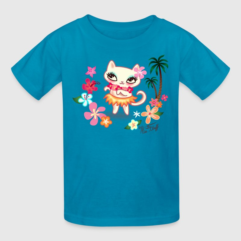 Hula Kitty Kids' Shirts - Kids' T-Shirt