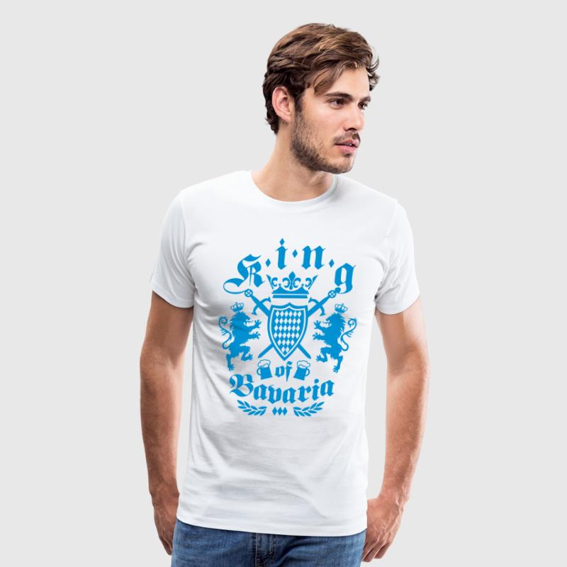 King of Bavaria Lions Bavarian Coat of arms Beer T - Men's Premium T-Shirt