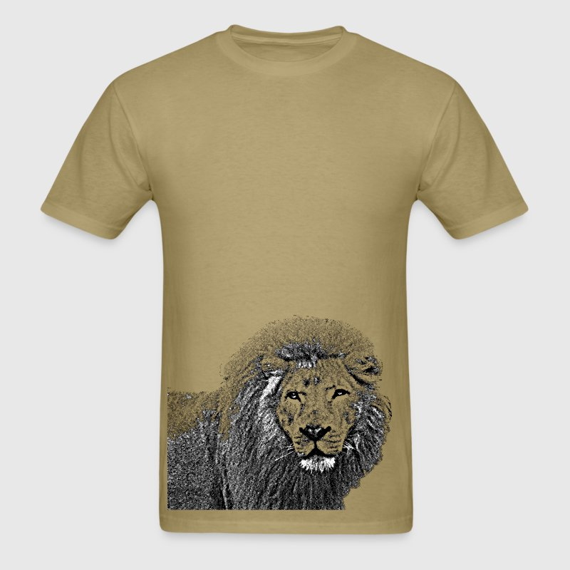 Vintag Lion Half Body T-Shirts - Men's T-Shirt