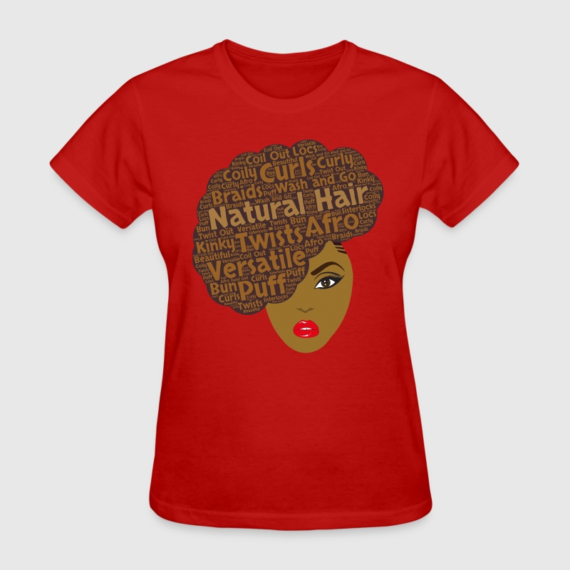 Natural Hair Side Afro T-Shirt for Black Women - Women's T-Shirt