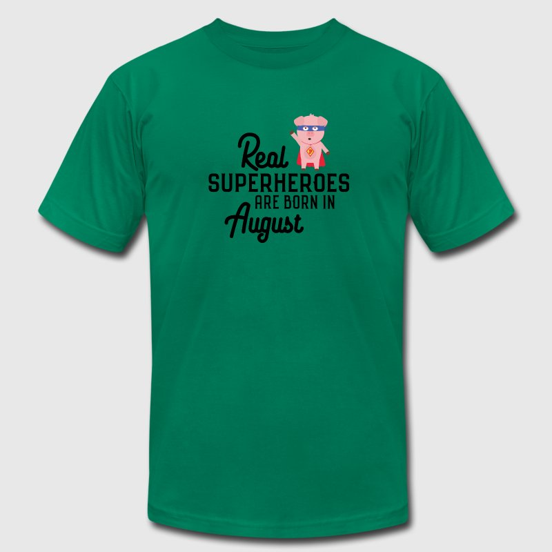 Superheroes-are-born-in-August Sk7qe T-Shirts - Men's T-Shirt by American Apparel