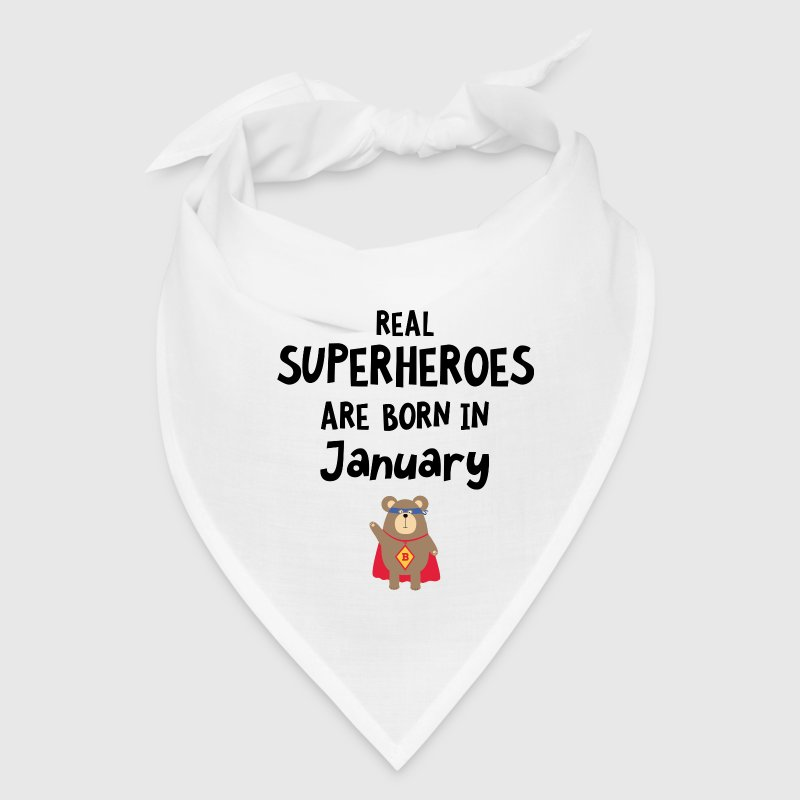 Superheroes are born in January Syus3 Caps - Bandana