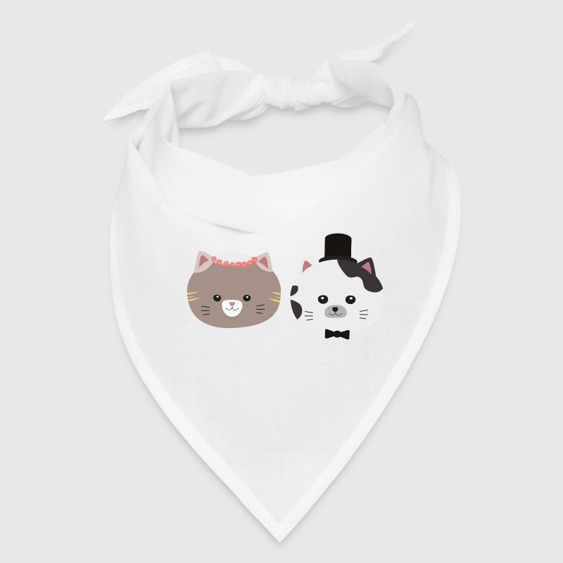 Cat Wedding Couple Sn557 Caps - Bandana