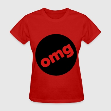 omg circle filled T-Shirts - Women's T-Shirt