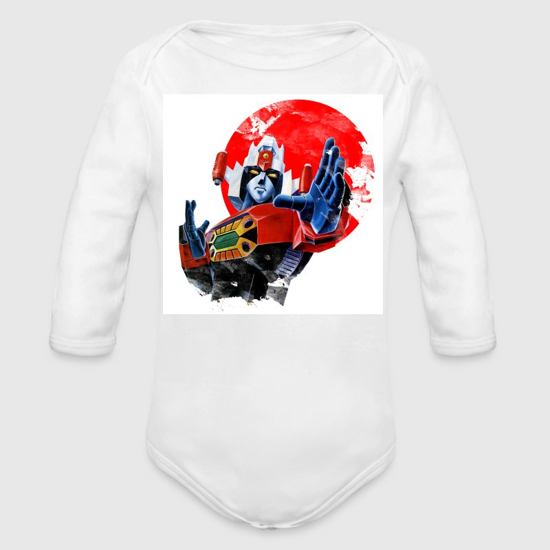 Daimos Gundam Japan Baby Bodysuits - Long Sleeve Baby Bodysuit