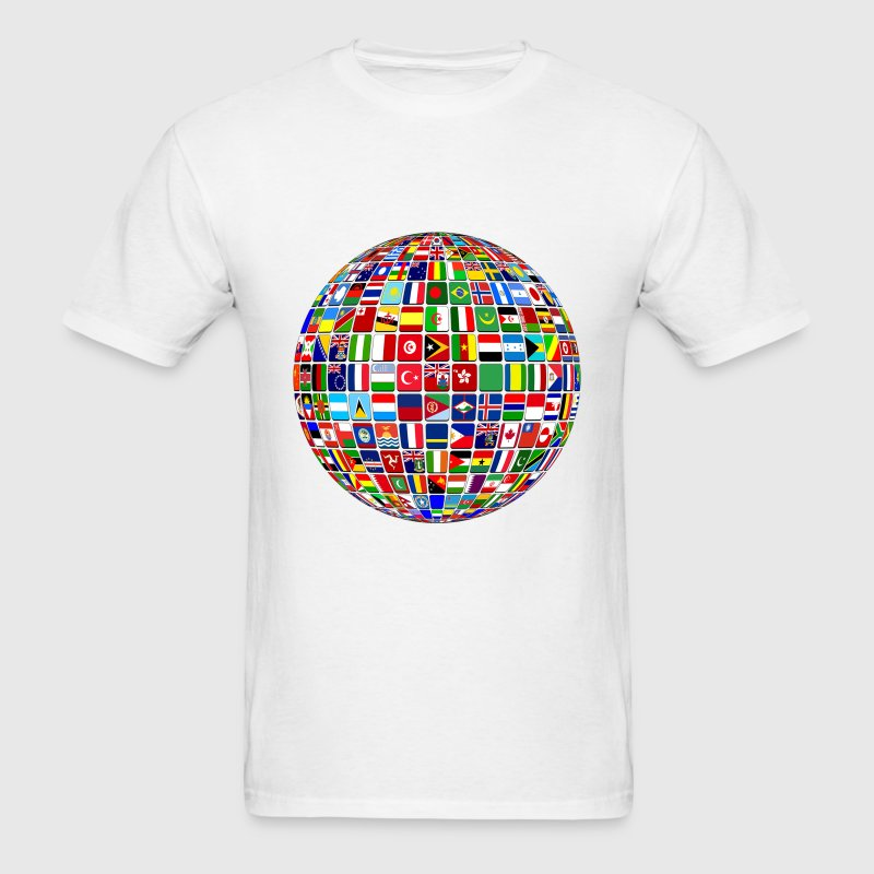 Globe Of Flags - Men's T-Shirt