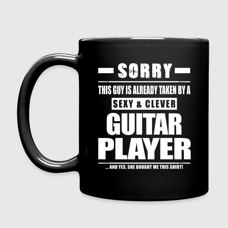 Guy Taken - Guitar Player Shirt Gift Mugs & Drinkware - Full Color Mug